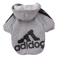 Adidas sweatshirt fleece jacket for dogs or cats gray