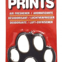Fresh scent paw print shaped air freshener for car or room black and white