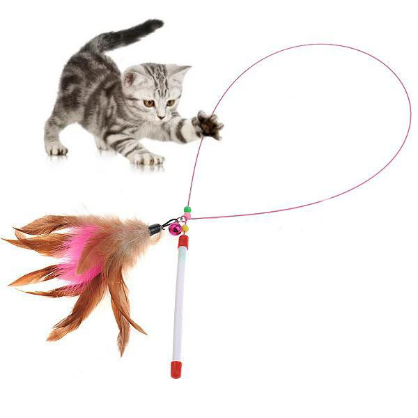 cat toys feather wand toy