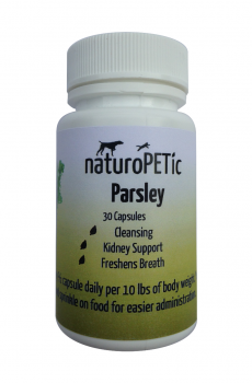 Parsley is used as a breath freshener and system cleanser in dogs and cats.