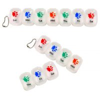 Paw Print 7 Day Detachable Pill Organizer