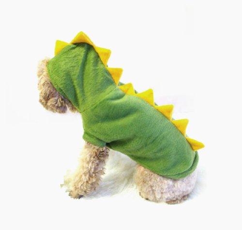 Dinosaur Dog Costume - green with yellow stegosaurus spikes  sc 1 st  naturoPETic & Dinosaur Costume for Dogs | naturoPETic