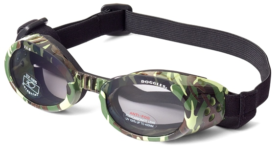 Doggles protective eyewear for dogs - camouflage pattern