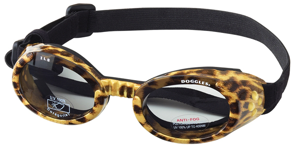 Doggles protective eyewear for dogs - leopard print pattern